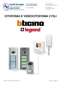 Citofonia e videocitofonia 2 fili Bticino-001
