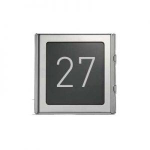 Urmet 1148-50 - Modulo numero civico Sinthesi S2 in alluminio anodizzato color acciaio lucido
