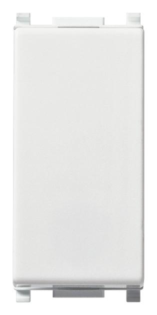 Interruttore 1P 10 AX 250 V~, illuminabile, tasto sostituibile, bianco