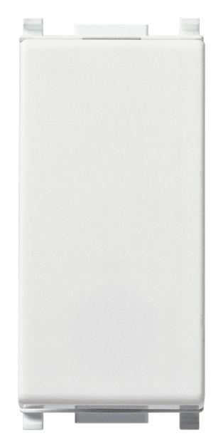 Pulsante 1P NO 10 A 250 V~, illuminabile, tasto sostituibile, bianco