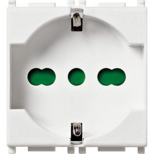 Vimar 14210 - Presa 2P+T 16A universale bianco