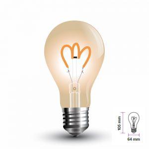 Lampadina LED E27 Filament Oro Vetro Curva