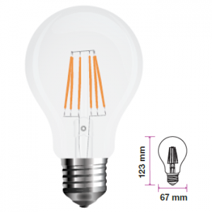 Lampadina LED Filamento E27 123x67