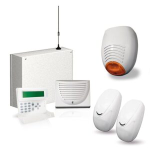AMC - KIT 186 Centrale allarme C24 GSM PLUS +TASTIERA K-VOICE + SIRENA + SENSORI